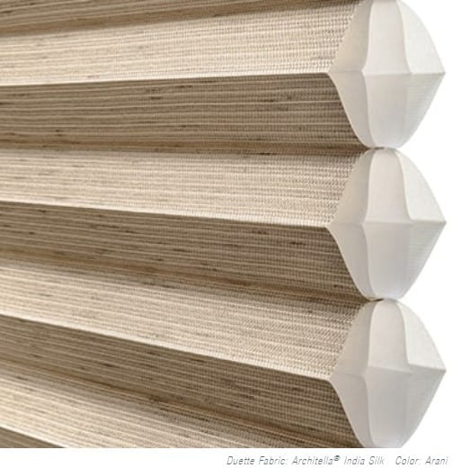 Duette® Honeycomb Shades are the original cellular shades, specifically engineered to provide beauty and energy efficiency at the window in both cold and warm climates. Their honeycomb construction traps air in distinct pockets, which creates insulation that can help lower your energy consumption and energy bills.