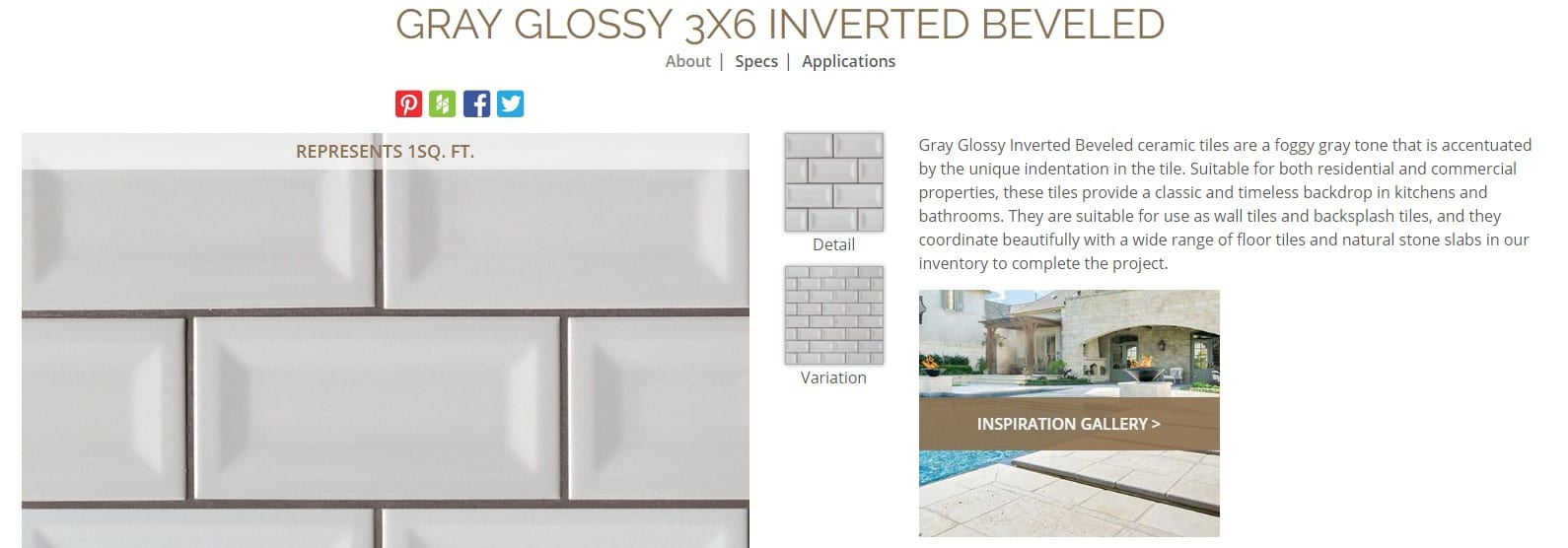 .https://www.msisurfaces.com/domino/gray-glossy-3x6-inverted-beveled/
