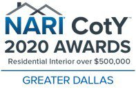 2020 Dallas NARI Contractor of the Year $500,000+ Interior Remodel