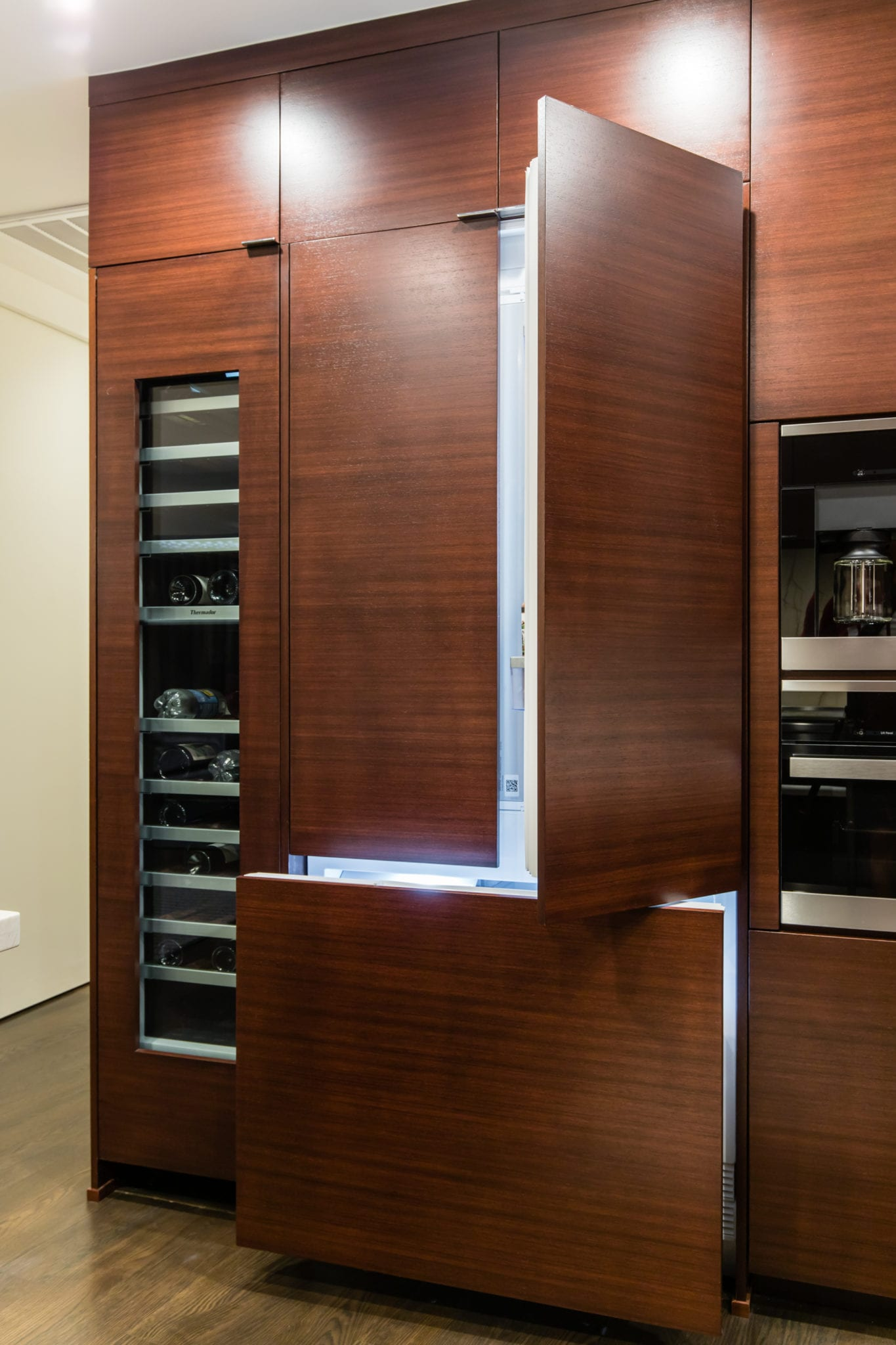 Kitchen-2-story-high-rise-condo-remodel-The-Travis-Katy-Trail-Kitchen-Cabinet-for-refrigerator