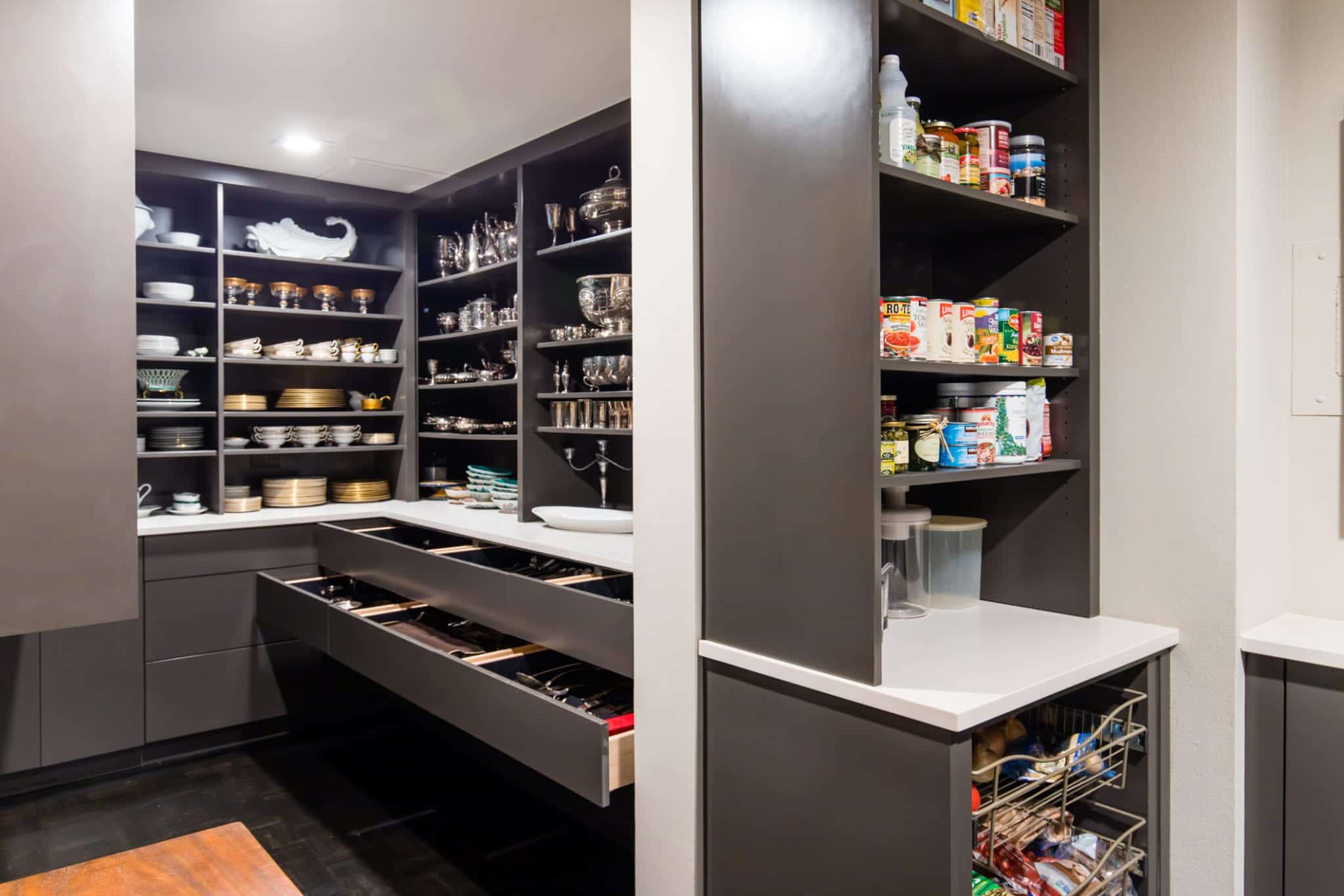 New Butler's Pantry in Remodeled Dallas Condo