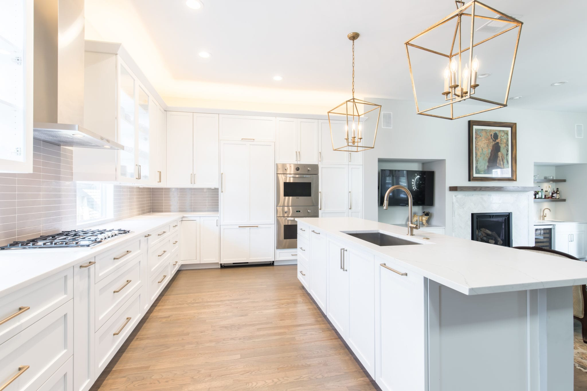 Renowned-Kitchen-Cabinets-and-Re-Finished-Fllors-After-Remodel-Dallas-Texas-Townhome-Condo