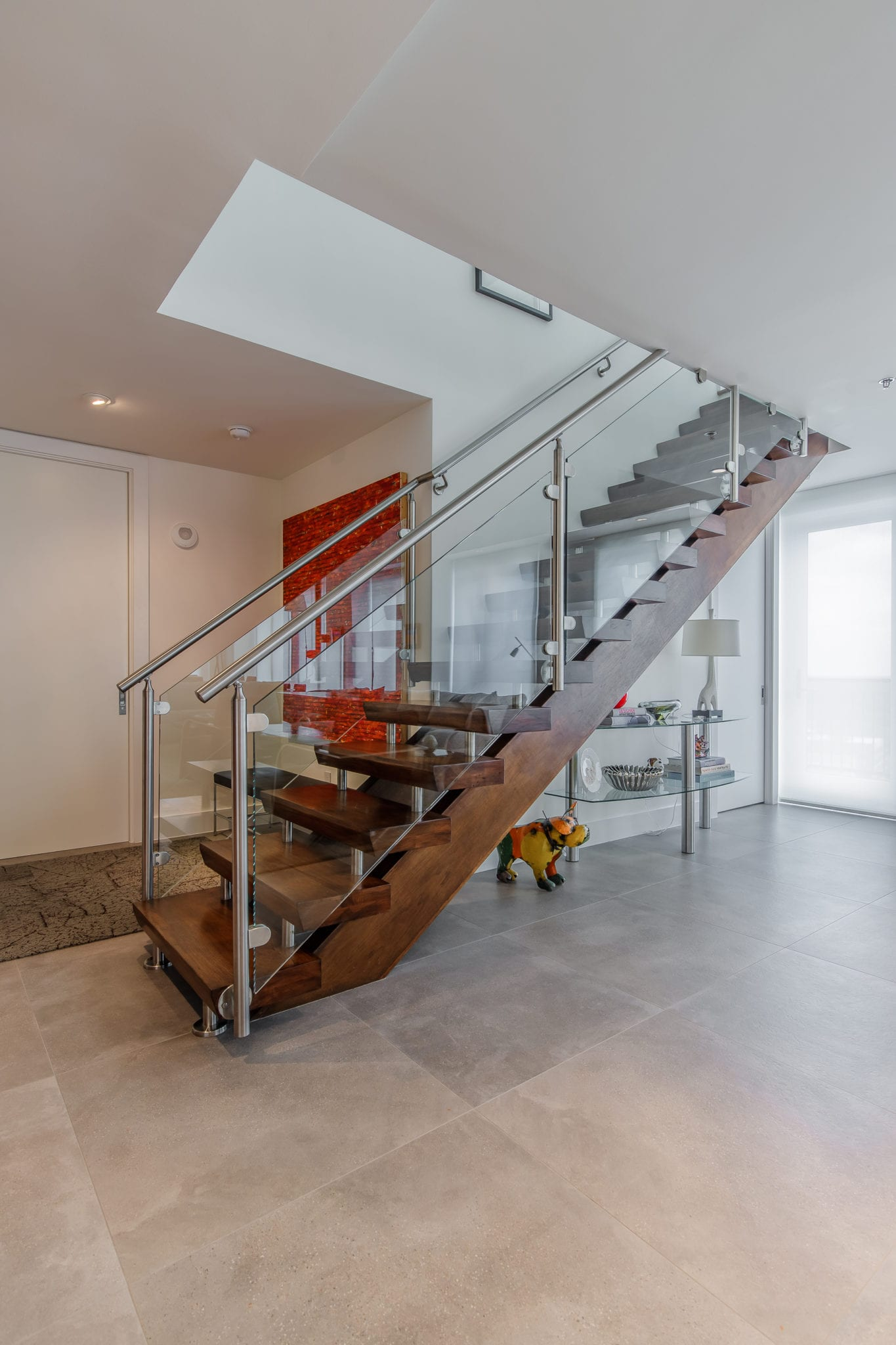 Two Story Penthouse Entrance Stairs