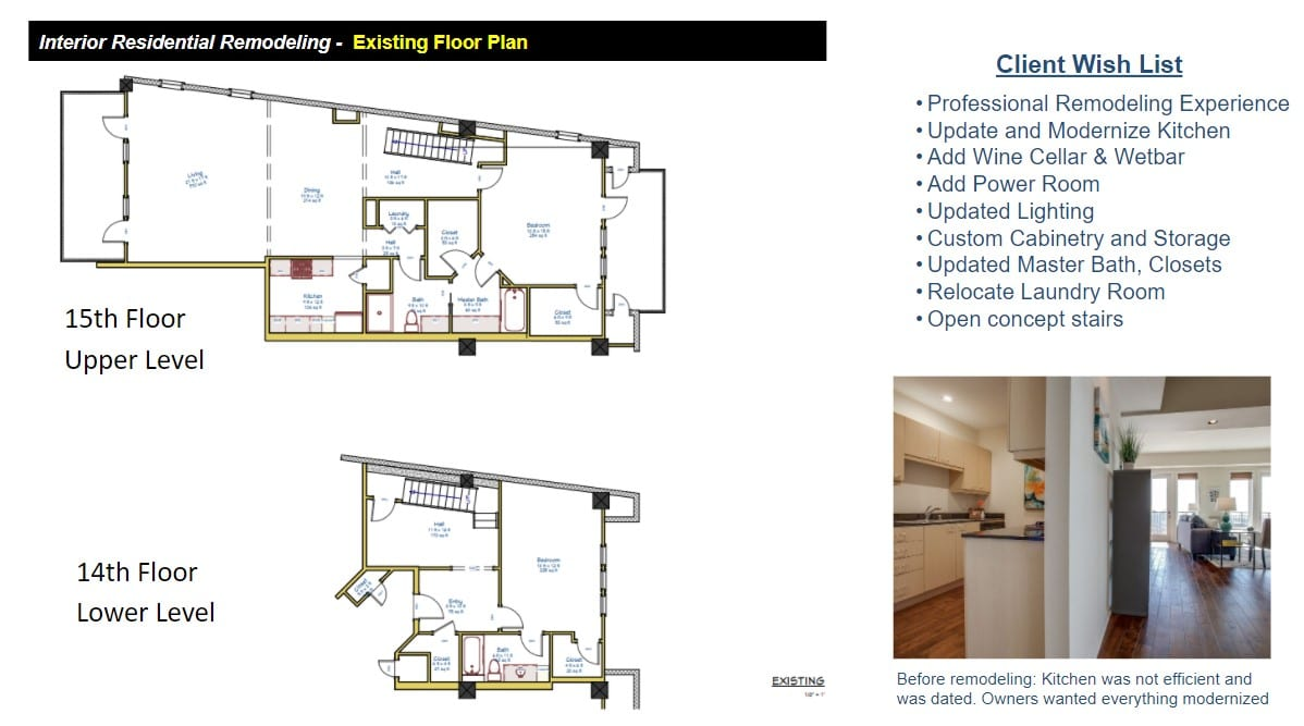 Penthouse Floor Plans Before Remodeling