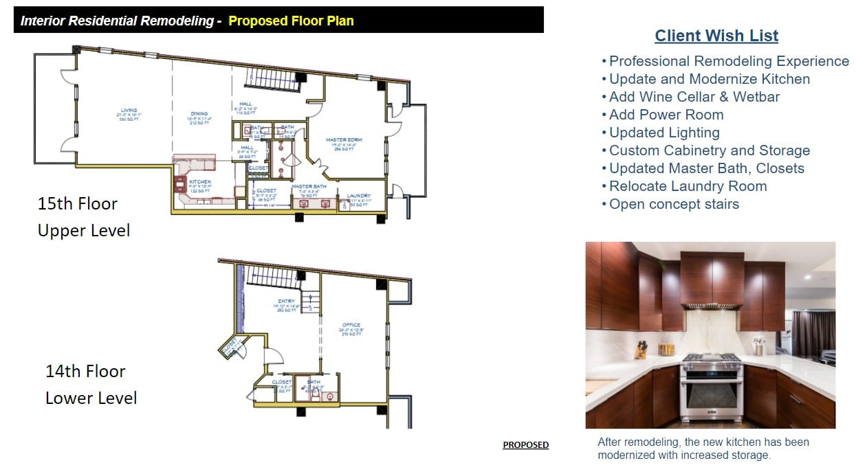 Proposed Penthouse Floor Plans Remodeling